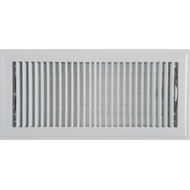 Accord 15 x 35cm White Metal Louvered Floor Register