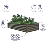 The Organic Garden Co 200 x 100 x 41cm Karaka Raised Garden Bed