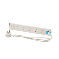 HPM 6 Outlet Powerboard with Surge Protection