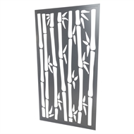 Protector Aluminium 900 x 1800mm ACP Bamboo Decorative Panel Unframed - Silver Matte