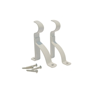 Windoware 75mm White Metal Single Curtain Stayed Bracket - 2 Pack