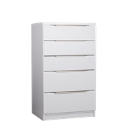 Multistore 1065 x 500 x 450mm Light Oak 3 Standard 2 Jumbo Drawer Storage Unit - Crisp White