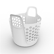 Ezy Storage 27L Flexi Laundry Basket  - White