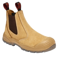 Hard Yakka Wheat Utility Gusset Safety Boot - Size 5