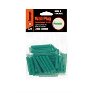Ramset 7 x 50mm Green Wall Plugs Bag of 50