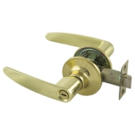 Ikonic Polished Brass Privacy Lever Set