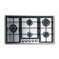 Everdure 90cm 5 Burner Stainless Steel Gas Cooktop With Wok Ring