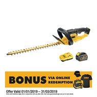 DeWALT 18V XR 6.0Ah Li-Ion Hedge Trimmer Kit