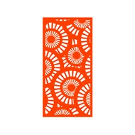 Protector Aluminium 900 x 1800mm ACP Profile 25 Decorative Panel Unframed - Orange
