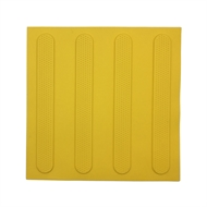 Brutus Yellow Strips Tactile Ground Surface Indicator Mats - 3 Pack