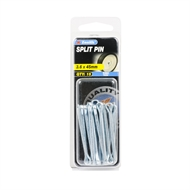 Zenith 3.6 x 45mm Zinc Plated Split Pins - 15 Pack