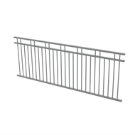 Protector Aluminium 2450 x 900mm Double Top Rail 2 Up 2 Down Fence Panel - Woodland Grey