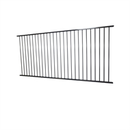 Protector Aluminium 2400 x 1200mm Black Flat Top Boundary and Garden Fence Panel