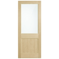 Corinthian Doors 920 x 2040 x 40mm Blonde Oak AWO 2G Translucent Glass Entrance Door