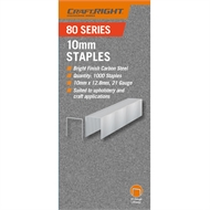 Craftright 10mm 80 Series Staples - 1000 Pack