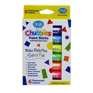 Boyle Fluorescent Colours Chubbies Paint Sticks