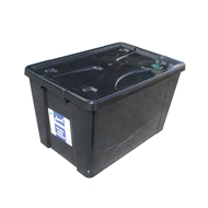 Award 50L Black Storage Container with Lid and Wheels