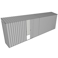 Build-a-Shed 0.8 x 6 x 2m Skillion Shed with Single Sliding Side Door - Zinc