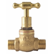 Kinetic 15mm Rough Brass T Head Stop Cock - M/M