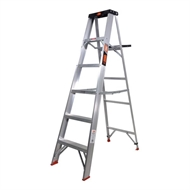 Rhino 1.8m 150kg Single Sided Aluminium Step Ladder with Tray