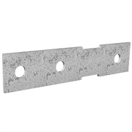 Dunnings 160 x 35mm M10 Galvanised Bracket Plate