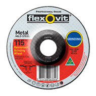 Flexovit 115 x 4.0 x 22.2mm Metal Grinding Wheel