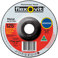 Flexovit 125 x 6.8 x 22.2mm Metal Grinding Wheel