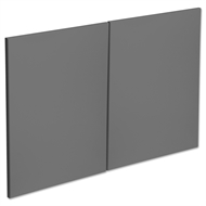 Kaboodle 900mm Smoked Grey Modern Rangehood Cabinet Doors - 2 Pack