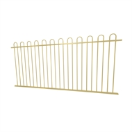 Protector Aluminium 2450 x 1200mm Loop Top Ulti-M8 Fence Panel - Primrose