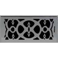 Accord 10 x 30cm Satin Nickel Victorian Floor Vent