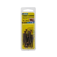Zenith 8g x 38mm Hinge-long Bronze Thread Timber Screws - 20 Pack