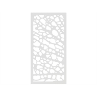Protector Aluminium 900 x 1800mm ACP Profile 1 Decorative Panel Unframed - Matte White