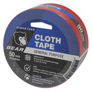 Norton Bear 50mm x 15m Red Cloth Tape
