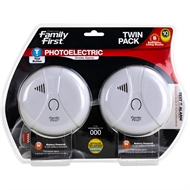Family First Photoelectric Smoke Alarm Twin Pack