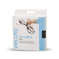 VELCRO® Brand 25mm x 5m Black Reusable Wrap