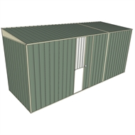 Build-a-Shed 1.5 x 4.5 x 2m Single Sliding Side Door Skillion Shed - Green