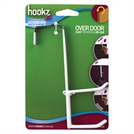 Hookz White Double Over Door Hat And Coat Hook