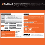 Taubmans Easycoat Low Sheen White Interior Wall Paint - 4L