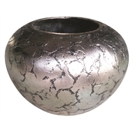 Northcote Pottery 80cm Helena Large Belly Pot - Silver Crackle
