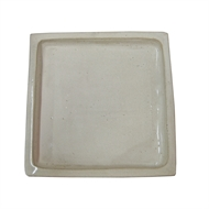 Northcote Pottery Cream Square Primo Saucer - 300mm