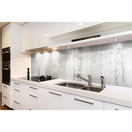 Bellessi 730 x 595 x 5mm Glass Textured Splashback  - White Wash