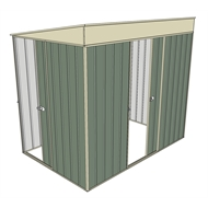 Build-a-Shed 1.5 x 2.3 x 2m Sliding Door Tunnel Shed with Sliding Side Door - Green
