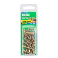Zenith 10g x 30mm Countersunk Head Timber Screws - 25 Pack