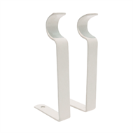 Windoware 100mm White Metal Single Curtain Unstayed Bracket - 2 Pack