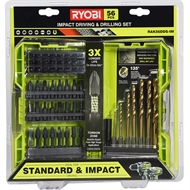 Ryobi 56 Piece Impact Driling And Driving Set