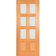 Woodcraft Doors 2040 x 820 x 40mm Clear Safety Glass Modern French Entrance Door