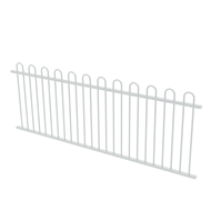 Protector Aluminium 2450 x 900mm Loop Top Fence Panel - Pearl White