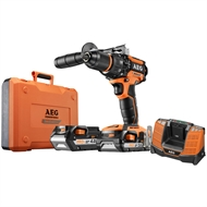 AEG 18V Brushless Hammer Drill Kit