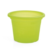 Eden 15cm Transparent Green Plastic Cylinder Pot