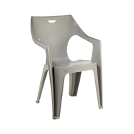 Marquee Kreta Low Back Taupe Resin Chair
